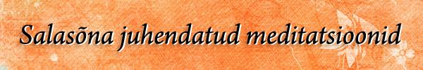 Salasna juhendatud meditatsioonid