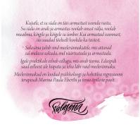 """Armastusega iseendale"" CD/album (sisekaas)"